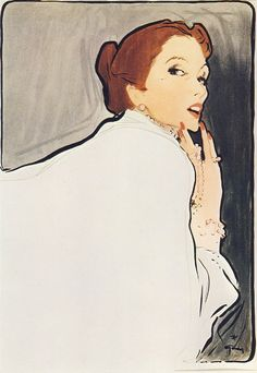 Fashion Drawings - René Gruau 1909 - 2004 Gruau's fluid line, bold use of colour, composition and psychology make his work stand out. He is undoubtedly the best fashion artist of the mid 20th century; he was without peersgruau