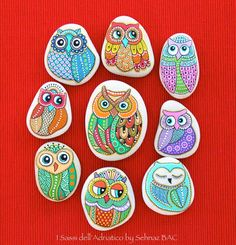 New owls I painted in these days  #paintedstones #isassidelladriatico