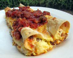 Awesome breakfast enchiladas, can be made ahead.