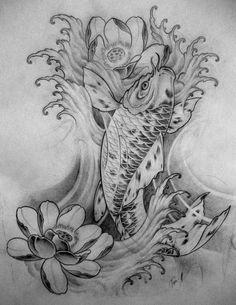deviantART: More Like Koi hannya tattoo by ~TeroKiiskinen Kio Fish Tattoo, Carp Tattoo, Hannya Tattoo, Asian Tattoos, Love Tattoos, Body Art Tattoos, Tatoos, Geisha Tattoos, Tattoo Sketches