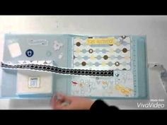 Mini álbum scrapbooking para bebé - YouTube