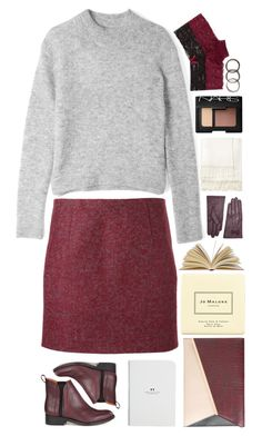 """Burgundy"" by gracemeilinlu ❤ liked on Polyvore featuring Acne Studios, Whistles, Jo Malone, Dorothy Perkins, Jigsaw, NARS Cosmetics, Pearls Before Swine, bedroom, vintage and autumn"