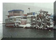 The raft Town Hall in snow in New York City