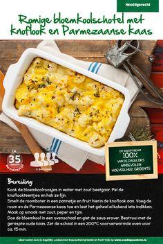 Recept voor romige bloemkoolschotel met knoflook en Parmezaanse kaas #Lidl