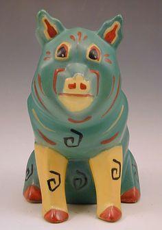 louis wain ceramic lucky pig, circa 1914