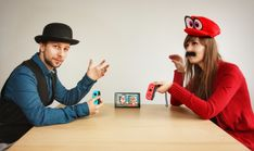 No TV? No second gamepad? No worries! Oh...Sir! on #NintendoSwitch supports local versus mode ;). (Huge thanks to our noble models! On the left - Artur Dębkowski - software engineer of Switch version, on the right Aleksandra Skiba, our 2D artist). Both Oh..Sir! games coming Jan 18th!