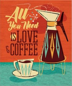 Mid Century Modern Coffee illustration coffee lovers poster by Diane Dempsey Design. Design Studio, Art Design, Graphic Design, Black Rock Coffee, Library Posters, Kitchen Posters, Coffee Facts, Art Watercolor, Coffee Illustration