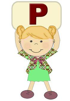 """Alfabeto Meninas """"p"""""""