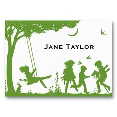 16 best business cards for kids images on pinterest kids cards childrens silouette calling card colourmoves
