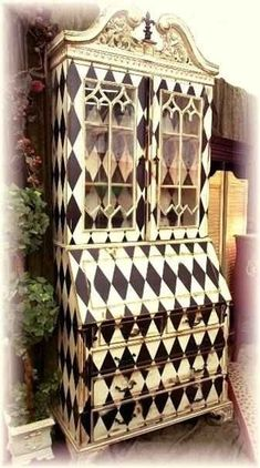 harlequin furniture  | Harlequin hand-painted secretary