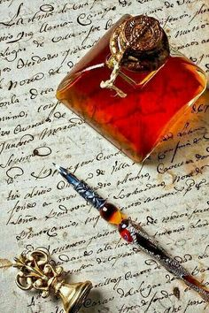 The lost art of writing letters - pen, paper, ink, seal, thoughts Old Letters, Calligraphy Pens, Dip Pen, Fountain Pen Ink, Lost Art, Penmanship, Pen And Paper, Letter Writing, Writing Table