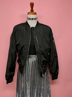 Bomber jacket con cierre (2 colores) - OH MY! STORE
