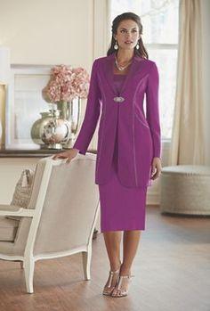 Delphine Rhinestone Skirt Suit from Midnight Velvet.