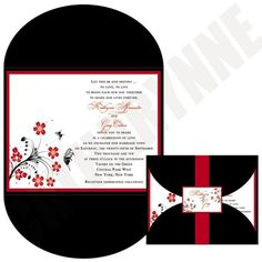 Wedding Invitation - The Asian Blossoms Collection.  Etsy.