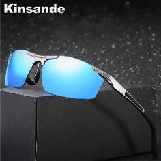 [ 22% OFF ] Kinsande New Fashion Sports Sunglasses Men Fishing Driving Polarized Eyes Protect Sun Glasses Gafas De Sol K8530
