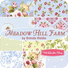 Meadow Hill Farm Fat Quarter Bundle Brenda Riddle for Lecien Fabrics - Fat Quarter Shop