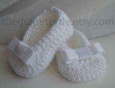 Zapatos de bebé zapatos con arco blanco de por TheGrapeTurtle