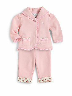 Ralph Lauren Infant's Two-Piece Fleece Top & Pants Set  $18.56 from 49.50  Neat stuff on sale at Saks