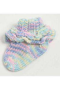 Knitting Patterns Galore - Ruffled Baby Socks