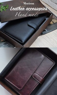 Personalized leather belts, wallets and idea gifts. Leather Diary, Leather Notebook, Leather Belts, Leather Accessories, Notes, Wallet, Handmade, Gifts, Report Cards