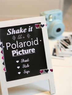 You can make your own wedding photo booth with an instant camera and a lot of props. Let your guests keep the snaps they take as favours so they can be reminded of all the fun they had on your special day.