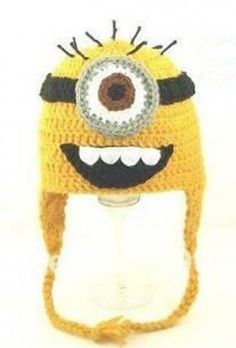 Despicable Me Minion (Inspired) Hat -Crochet Hat - for Kids
