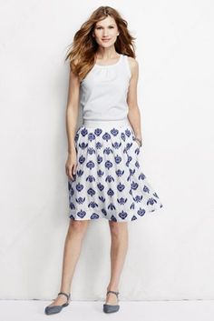 Stay cool (while looking cool) in our embroidered skirt reminiscent of the Greek Islands