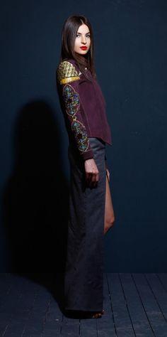 Suede Illusion Jacket on TROVEA.COM