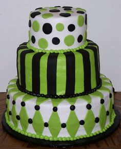 green and white cake tortas de cumpleaos Pinterest White