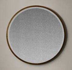 Bistro Antiqued Glass Round Mirror Furniture Vanity, Cool Furniture, Houston Houses, Decoration For Ganpati, Rh Rugs, Storage Mirror, Modern Shop, Round Mirrors, Wall Mirrors