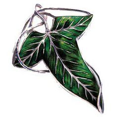 Stunning Lord of the Rings 925 Sterling Silver Elven Leaf Brooch | museumreplicajewelry - Jewelry on ArtFire
