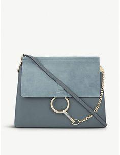 Chloe Faye leather & suede cross-body bag Chloe Bag, Cross Body, Crossbody Bag, Jumpsuit, Shoulder Bag, Classic, Leather, Bags, Fashion