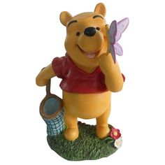 Woods International Disney Winnie The Pooh with Butterfly Friend Statue