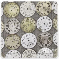 Eclectic Elements - Time Pieces Taupe Yardage from Missouri Star Quilt Co