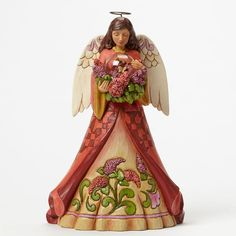 Grace In Flight-Angel With Butterfly In Glass Dome Figurine