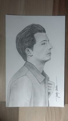 Charlie Puth pencil sketch by Tridip Saikia Cool Art Drawings, Amazing Drawings, Drawing Stuff, Easy Drawings, Pencil Drawings, Art Sketches, Charlie Day, Charlie Puth, Billie Eilish