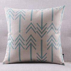 "Create For-Life Cotton Linen Decorative Pillowcase Throw Pillow Cushion Cover Square 18"" Retro Orange Bold Arrows Hmlover(TM) http://www.amazon.com/dp/B00MRX1836/ref=cm_sw_r_pi_dp_Ls.Kwb0CJWKHY"