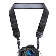 TrueSHOT DSLR Camera Neck Strap Neoprene with Quick Release Clips and Accessory Storage Pockets by USA Gear - Works with Canon PowerShot SX410 , EOS 80D , Rebel T5 and More