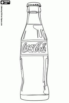 Coca-Cola Bottle Coloring Page | Coca-Cola Coloring Pages