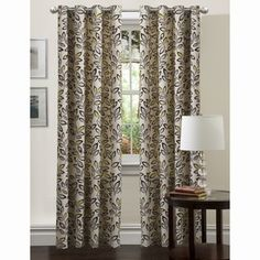 """Lush Decor Ventura Panel Blue Curtains $40.55 84"""" - these looked like they had yellow in them."""