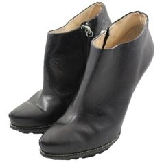 Pre-owned Giuseppe Zanotti Ankle Platform Ankle Sz 9 Black Boots ($372) ❤ liked on Polyvore