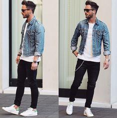 how to wear denim jacket men