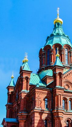 Visit the largest orthodox church in Western Europe. Built in 1868, the Uspenski Cathedral in Helsinki, Finland is free of charge to visitors.