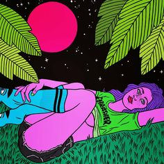 Our trip through the depths of visual underground art continues with an amazing illustrator from outer space: Robin Eisenberg. Arte Alien, Alien Art, Art Pop, Psychedelic Art, Painting Inspiration, Art Inspo, Robin Eisenberg, Arte Grunge, Stoner Art
