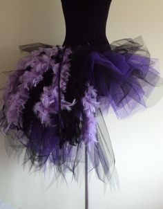 Burlesque Purple Black Feather TuTu. Omg halloween?