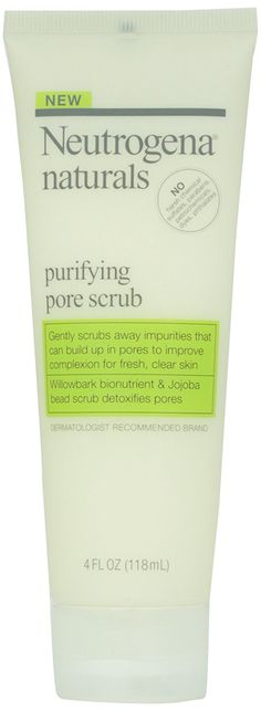 Neutrogena Naturals Purifying Pore Scrub, 4 fl. oz. ** This is an Amazon Affiliate link. Visit the image link more details.