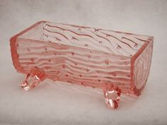 RARE ANTIQUE 1905 DEPRESSION GLASS NORTHWOOD SUGAR BOWL HOBNAIL TROUGH PINK