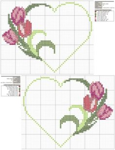 ~ punto croce by hand Wedding Cross Stitch, Cross Stitch Heart, Cross Stitch Flowers, Cross Stitching, Cross Stitch Embroidery, Hand Embroidery, Cross Stitch Designs, Cross Stitch Patterns, Broderie Bargello