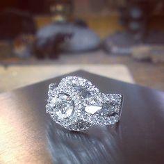 Double decked halo ring. #tw #whitegold #diamonds...