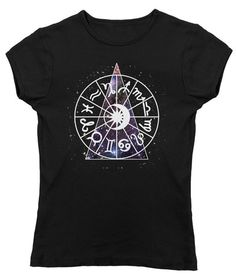 Women's Zodiac Dial Astrology T-Shirt - Juniors Fit. $25.00 from #Boredwalk, plus free U.S. shipping. Click to purchase!